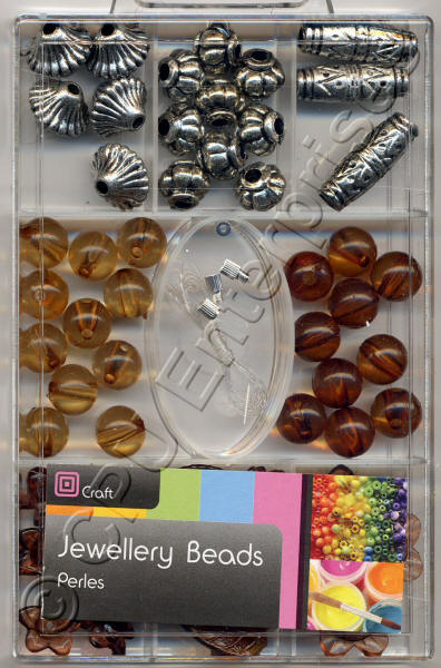 Large Beads - Brown