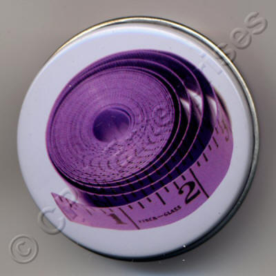 Lilac Tape Measure in a Tin