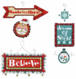 Dimensions Whimsical Christmas Signs