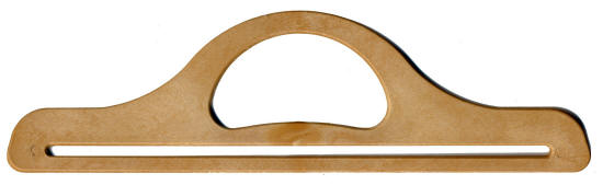 Lighter Wood Straight Bag Handles