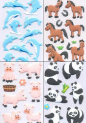 Fuzzy Animal Stickers
