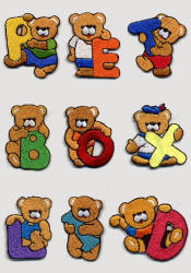Teddy Iron On Letters Motifs