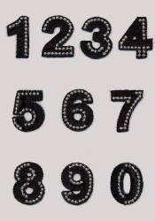 Black Iron On Number Motifs