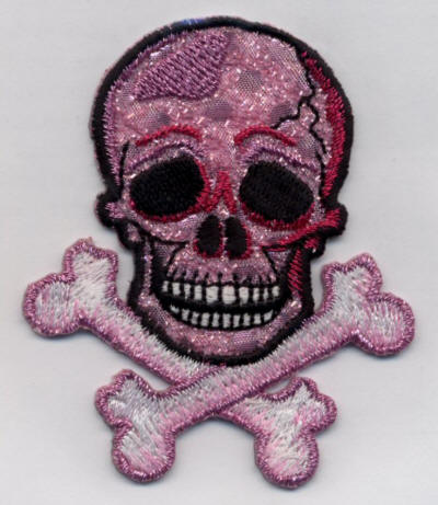 Pink Skull and Cross Bones