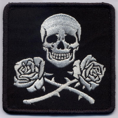 Skull and Roses Patch