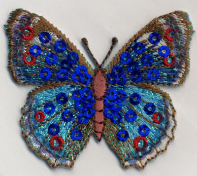 Blue Sequin Butterfly